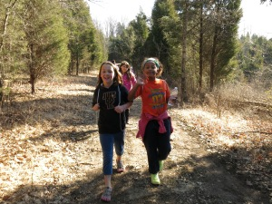 G.O. girls on the trail