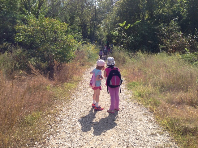 What's that ahead? GIrls Outside Spring Hikes, hooray!