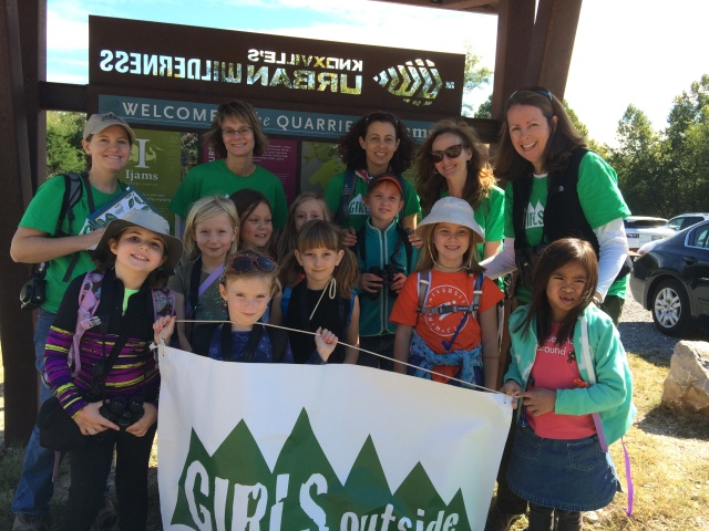 Girls in grades 1-3 get outside on Sunday.